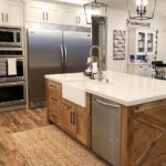 utah rustic white mix kitchen cabinets 960-sq