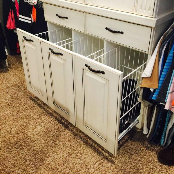 utah custom cabinets pullout hampers